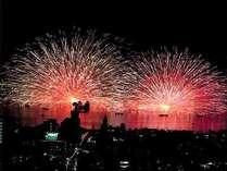 【当館目の前】7月下旬~8月下旬、毎晩花火を開催!信州上諏訪温泉の夏は面白い!