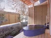 客室露天風呂(一例)お部屋ごとに趣が異なります