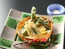 ■夕食一例■公魚(わかさぎ)の天ぷら