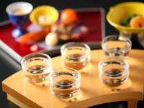 ■夕食イメージ■諏訪五蔵飲み比べセット。上諏訪には酒蔵が5つあります