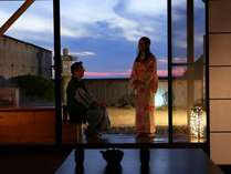 【露天風呂付き客室】ふたり旅に人気の海一望露天風呂付き客室
