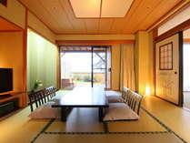 【庭園と露天風呂が付いた贅沢な客室】