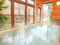 《当館自慢☆バナジウム天然水を使用した半露天風呂の鉱泉です☆》