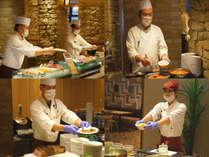 ダイニング「KAWATONE」夕朝食・衛生管理をしたスタッフが1皿1皿作りたてのお料理をお客様の手へ♪