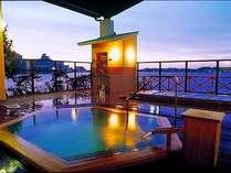 六角風呂◆【夢湯パーク】ゆったり露天風呂でお疲れを癒し、柴山潟をひとり占めなさってはいかがですか。