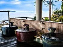 【湯多風多の瓶風呂】柴山潟を眺めながらゆったりなさってえ下さい。