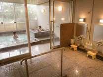 【サウナ付き貸切風呂】バリアフリーとなっており10名様までお入り頂けます(50分2,160円)