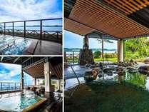 片山津最大の22種類の湯船と豊富な温泉が楽しめる湯遊び