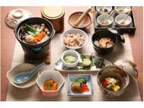 体に優しい食材にこだわったお料理(一例)。