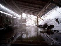 母里の湯。冬景色