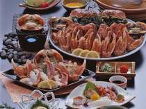 当館秘伝のかに鍋は具は蟹と天然わかめと大根だけ!カニ本来の味を極限まで引き立てる絶品です♪