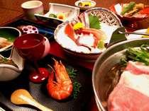 夕食一例(全体)伊勢原は、山・海に近く、四季折々のお料理をどうぞ!
