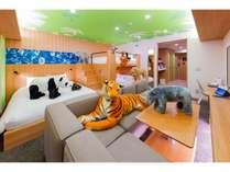 キャラクタールーム(アニマルルームHOTEL Zoo、6名さま定員)