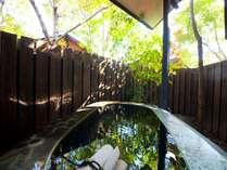 客室付きの半露天風呂