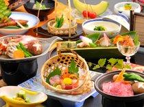 ■料理■厳選した魚介類を中心にした会席料理。(イメージ)