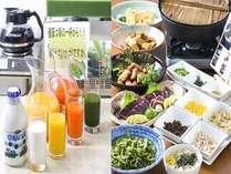 薩摩健康朝食♪青汁もございます。薩摩の郷土料理も朝からご堪能頂けます。