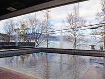 *【男湯:大浴場】~熱海 伊豆山温泉~琵琶湖の大パノラマを一望できる大浴場!