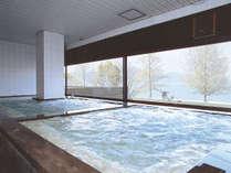 【男湯:大浴場】~熱海 伊豆山温泉~琵琶湖の大パノラマを一望できる大浴場!