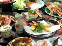 【松葉ガニ尽くし】蟹刺し・茹で蟹・甲羅焼き・・・大満足の豪華フルコース♪