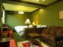 緑を基調としたお部屋