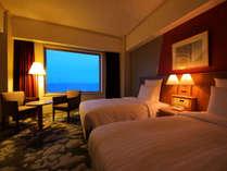 ■高層階オーシャンビューツイン27平米■9階以上確約!大きな窓からは稚内の広々とした海♪