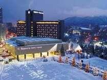 美しい光の芸術★2月末まで夜はホテルへと続く道にイルミネーションが灯ります♪