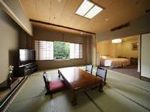 和室2室と洋室1室の快適空間にアミニティーも充実