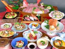 【スタンダード】海鮮会席14品。当館の定番大人気プラン!(少数の場合は舟盛が皿盛りに変更になります。)