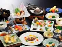 料理長おまかせ 会席料理 ワンランク上の贅沢を【~彩~】 鮑・陶板和牛ステーキ付 1泊2食