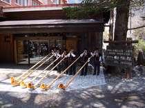 オーナーは毎年上高地開山祭でアルプホルンを演奏しています