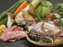 【山陰の旬の食材】地産地消にこだわり島根県産の美味しい食材をふんだんに使っています。