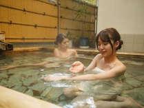 入浴後もしっとりモチモチの「うる肌」が持続する保湿効果抜群の美肌温泉。【女性大浴場・露天風呂】