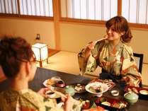 【すごもり部屋食プラン】お部屋でお食事。お客様だけのひとときをおすごしください。