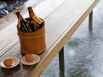 足湯イメージ※地ビールや温泉ゆで卵はオプション
