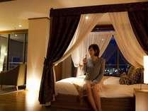 【開花亭】天蓋ベッド・和洋室
