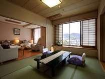 11階・12階の高層階、開花亭特別和洋室.