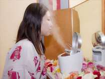 名湯&顔湯のスチームでW美肌(3階大浴場前).