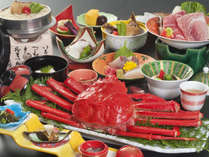 でっかいカニが1匹ついた豪華料理!秋・冬の旅はちょっと贅沢に♪