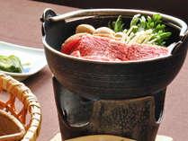 【夕食】いわて短角牛鍋