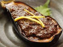 【茄子田楽】八丁味噌を使った宮内庁御用達の名物料理です。