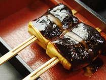 朝食に必ずお付けする豆腐の八丁味噌田楽♪大好評です。