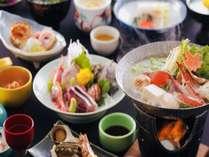 旬の魚介類を中心とした和風会席のイメージ(季節により内容は変わります)
