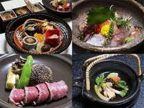 秋のご夕食のお料理の一部の一例です。