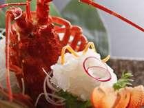 【追加料理:イセエビ姿造り】 6,000円(税別) ※南アフリカ産イセエビ使用