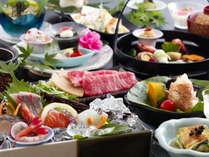 【夏料理(一例)】熱い物は熱いうちに、冷たい物は冷たいうちにお召し上がりくださいませ。