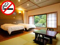 【和洋室<双葉・禁煙>】シモンズ社ベッド