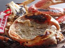 【料理一例】鳥取産 活松葉蟹の酒香焼き