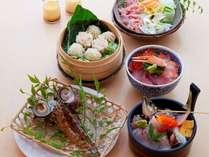 【姉妹店*海鮮市場蒸し釜や】海鮮&蒸し料理体験プラン料理一例