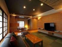 和洋室南館 和のテイスト溢れる100㎡の和洋室。ゆとりの空間で朝夕お部屋食。