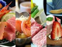 特選和牛と季節の鍋(冬の味わいプラン)スタンダードなお料理です。